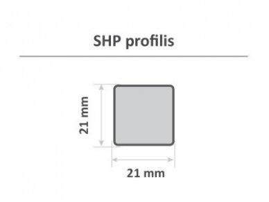 PAVYZDYS   Tašas, obliuotas, SHP, 21x21mm 2